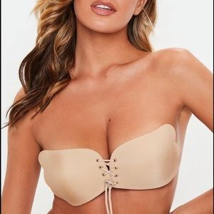 NEW Missguided adhesive strapless backless bra